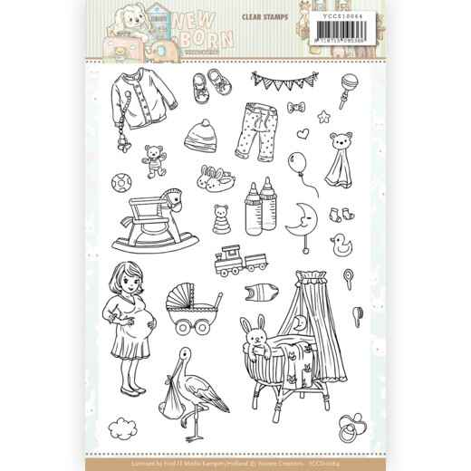 Clear Stamps - Yvonne Creations - Newborn    YCCS10064