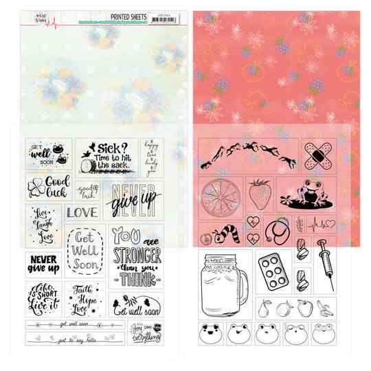 Mica Sheets - Jeanine's Art - Well Wishes   JAMC1004