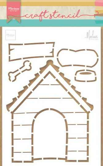 Craft stencil doghouse - PS8030