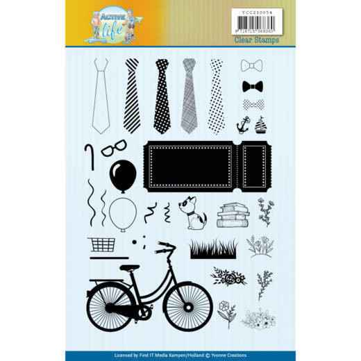 Clear Stamps - Yvonne Creations - Active Life  YCCS10054