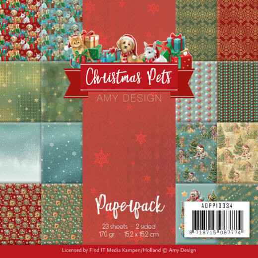 Paperpack - Amy Design - Christmas Pets  ADPP10034