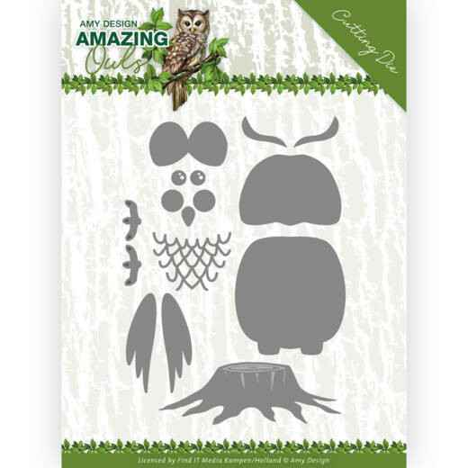 Amy Design - Amazing Owls - Build up Owl   ADD10216
