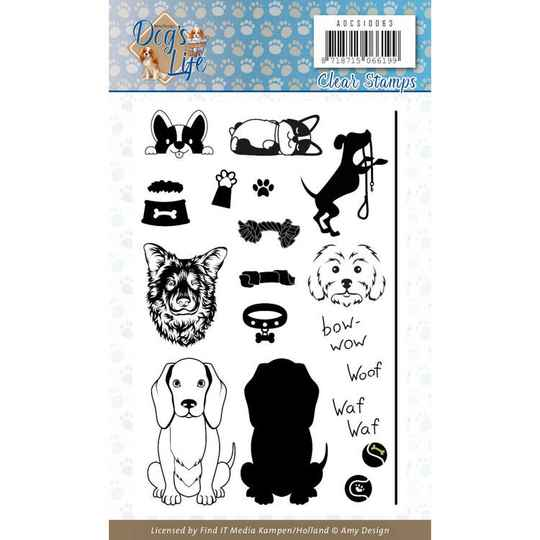 Clear Stamps - Amy Design - Dog's Life  ADCS10063