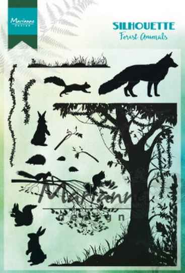 Clear stamp forest animals - CS1021