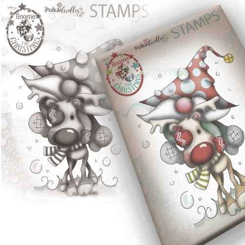 Polkadoodles stamp Gnome - Let's go ! - PD7947