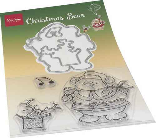 Stamp + die set Hetty's Christmas bear - HT1658
