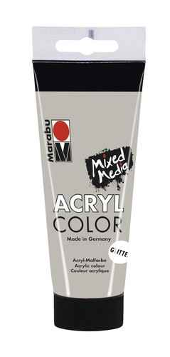 Acrylcolor 100 ML - Glitter zilver