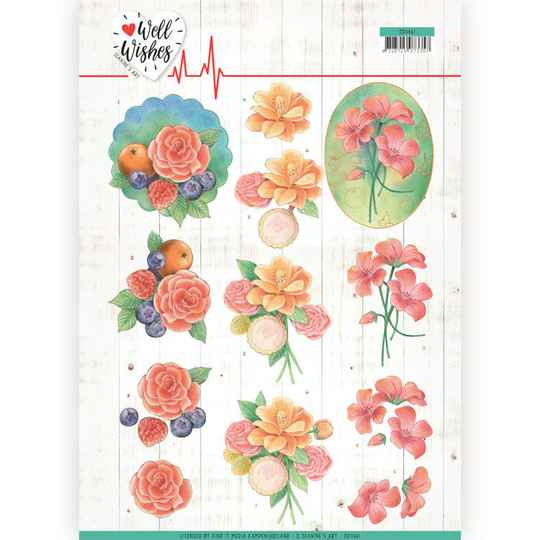 Jeanine's Art - Well Wishes - A Bunch of Flowers   CD11461