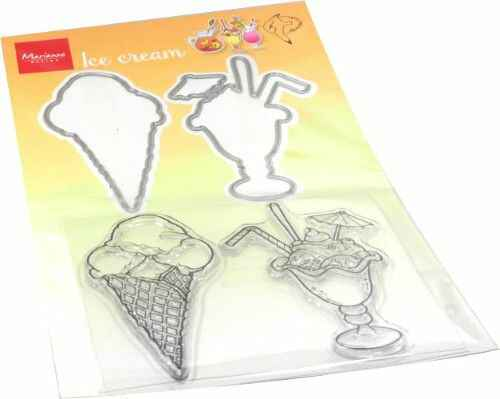 Clear Stamp & Die Hetty's Summer - ice cream HT1657