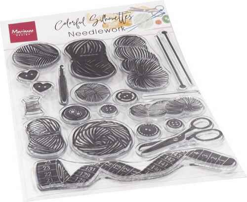 Clear stamp Colourful Silhoettes Needlework - CS1073