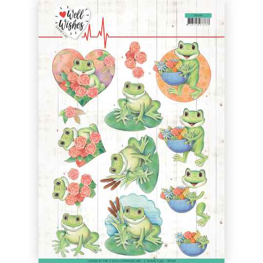 Jeanine's Art - Well Wishes - Frogs   CD11459