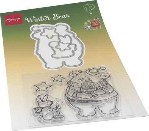 Stamp + die set Hetty's Winter bear - HT1659
