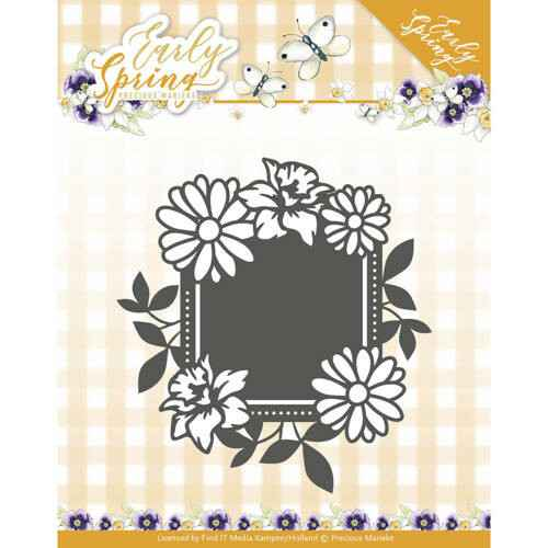 Precious Marieke - Early Spring - Spring Flowers Square label   PM10113