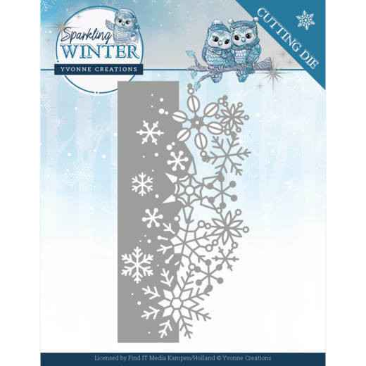 Yvonne Creations - Sparkling Winter - Sparkling Border  YCD10189