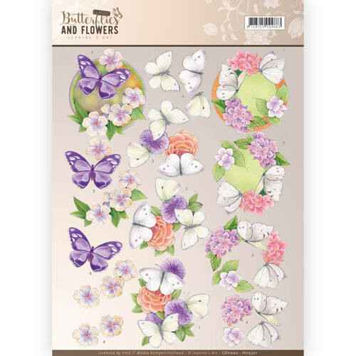 Jeanine`s Art - Butterflies and Flowers - Purple Flowers  CD11002