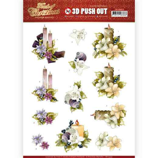 3D Push Out - Precious Marieke - Touch of Christmas - Candles  SB10459