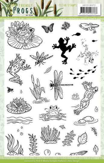 Clear Stamps - Amy Design - Friendly Frogs   ADCS10072