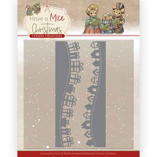 Yvonne Creations - Have a Mice Christmas - Christmas Gift Borders  YCD10250