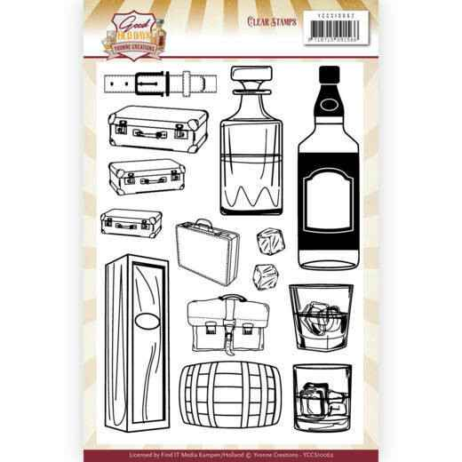 Clear Stamps - Yvonne Creations - Good old day's - Whiskey   YCCS10062