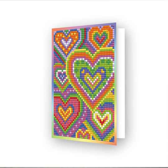 DIAMOND DOTZ® - 12.6x17.7 cm - Greeting Card Heart Mosaic