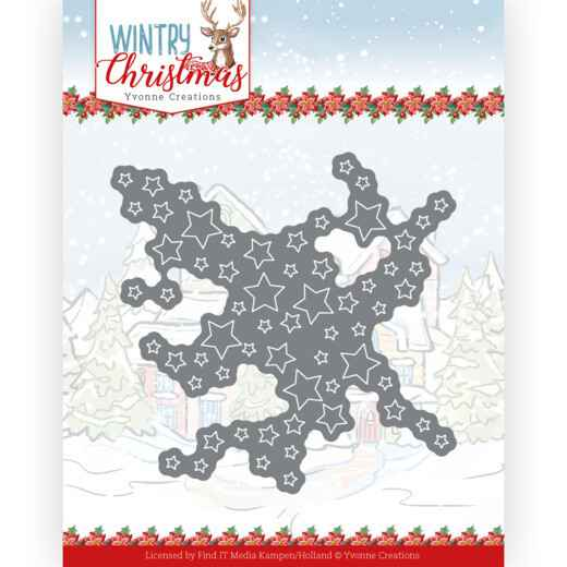 Yvonne Creations - Wintery Christmas - Cut out Stars  YCD10243