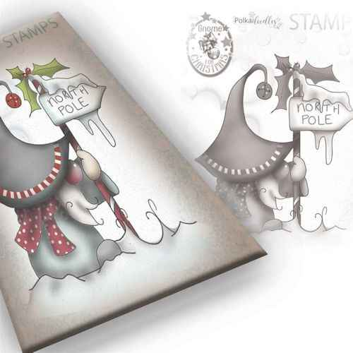 Polkadoodles stamp Gnome - North pole - PD7944