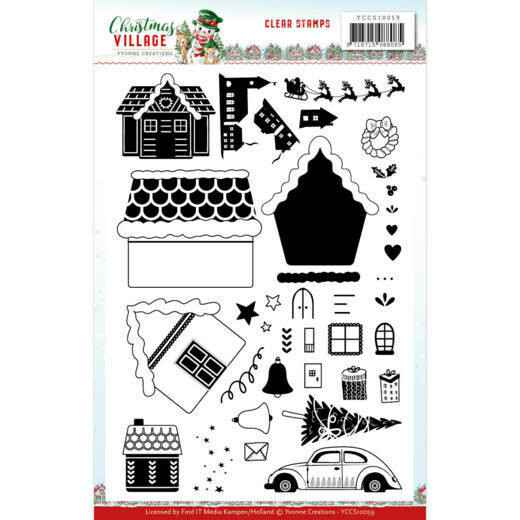 Clear Stamps - Yvonne Creations - Christmas Village   YCCS10059
