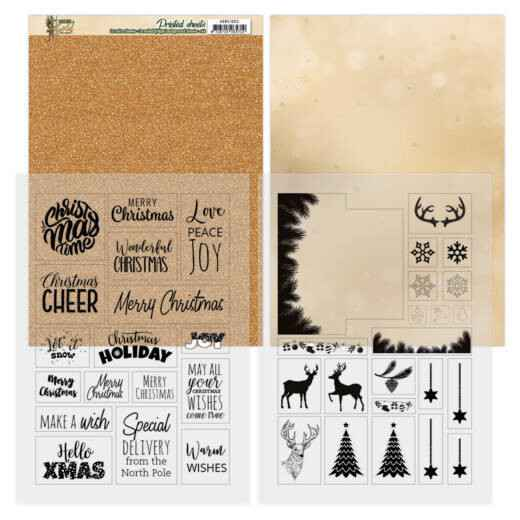 Mica Sheets - Amy Design - Christmas in Gold  ADMC1003