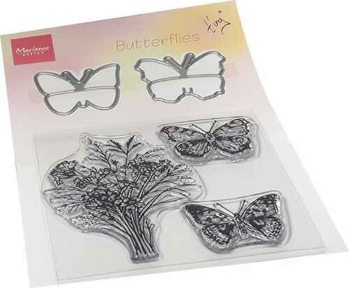 Clear Stamp & die set Tiny's butterflies   TC0879