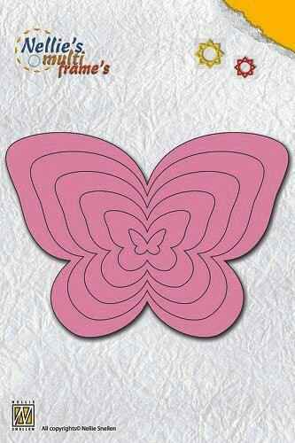 "Nellies Multi Frame Die ""butterfly"" - MFD064"