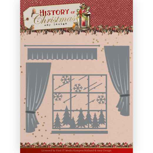 Amy Design - History of Christmas - Window with Curtains   ADD10243