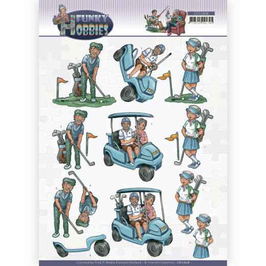 Yvonne Creations - Funky Hobbies - Golf   CD11608