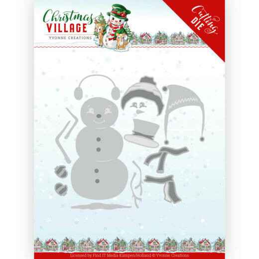 Yvonne Creations - Christmas Village - Build Up Snowman   YCD10208