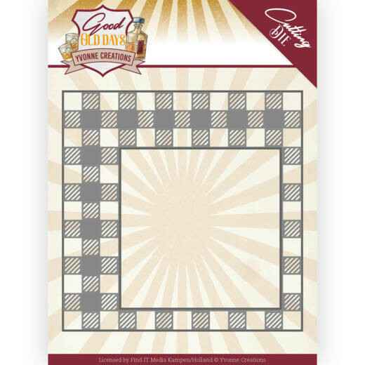 Yvonne Creations - Good old day's - Checkered Frame    YCD10220