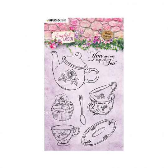 Studio Light • Clear stamp A6 English garden nr.431