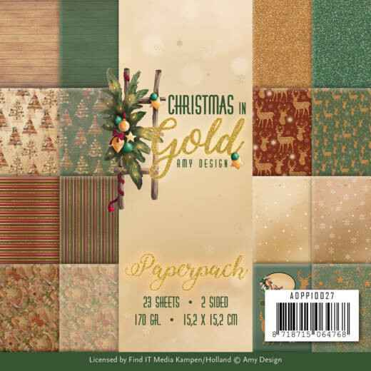 Paperpack - Amy Design - Christmas in Gold  ADPP10027