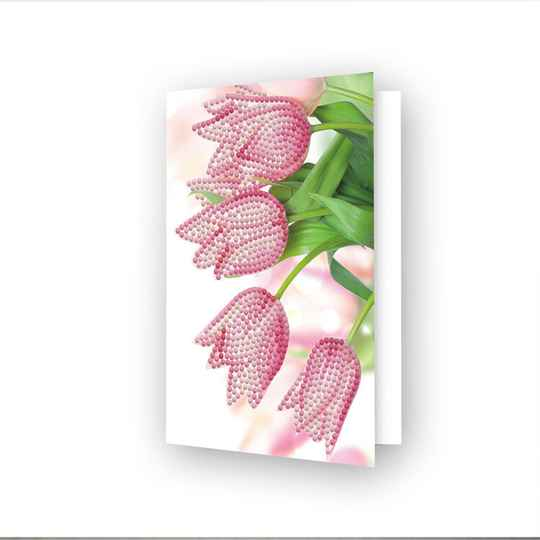 DIAMOND DOTZ® - 12.6x17.7 cm - Greeting Card Romantic Tulips