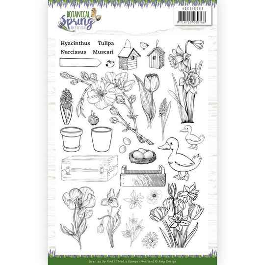 Clear Stamps - Amy Design - Botanical Spring   ADCS10066