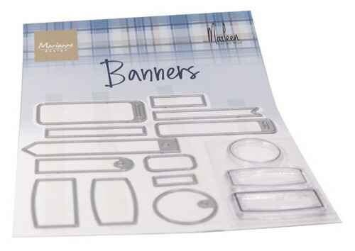 Clear stamp Banners by Marleen  CS1058