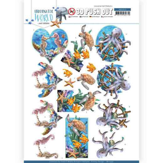 3D Push Out - Amy Design - Underwater World - Sea Animals  SB10455