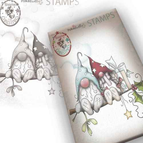 Polkadoodles stamp Gnome - Christmas love - PD7949