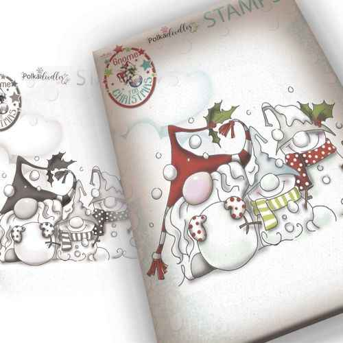 Polkadoodles stamp Gnome - Snow gnomes - PD7945
