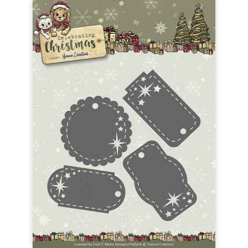 Yvonne Creations - Celebrating Christmas- Star Tags  YCD10110