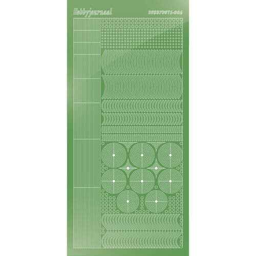 Hobbydots sticker - Mirror - Lime   STDM06C