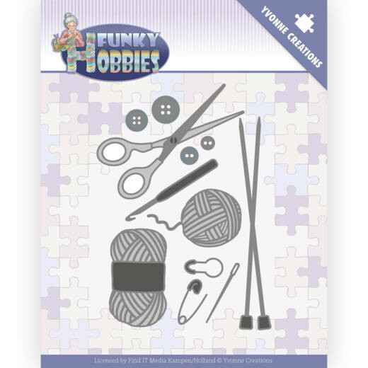 Yvonne Creations - Funky Hobbies - Knitting   YCD10230