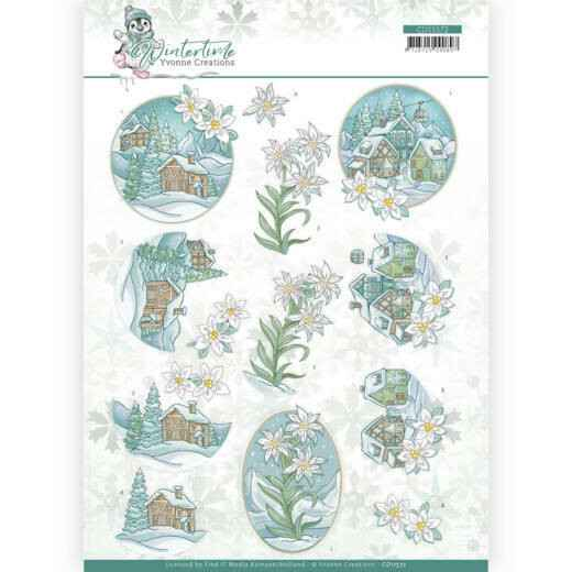 Yvonne Creations - Winter Time - Edelweiss   CD11572