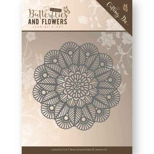 Jeanine's Art - Butterflies and Flowers - Doily  JAD10022
