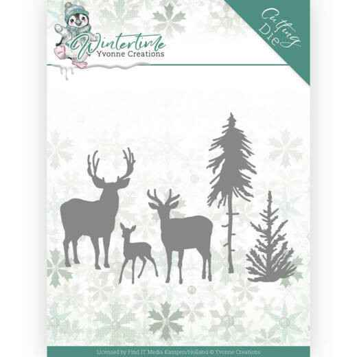 Yvonne Creations - Winter Time - Deer in the Forest   YCD10217