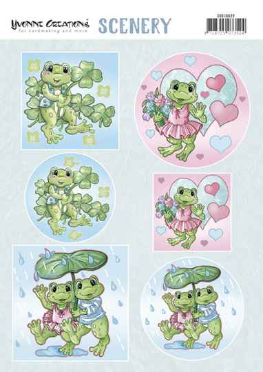Scenery - Yvonne Creations - Happy Frogs CDS10022