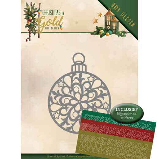 Amy Design - Christmas in Gold - Christmas Bauble   ADD10183